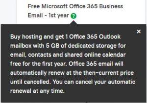 تجديد خدمة اوفيس 365 لدى جودادي
